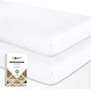 California Design Den Store Organic Cotton Crib-Fitted Sheet