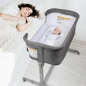 KoolaBaby 3 in 1 Baby Bassinet, Bedside Sleeper, & Playpen