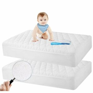 Safe and Sound Store 2 Pack Crib Mattress Protector