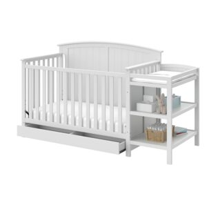 Storkcraft Steveston 4-in-1 Convertible Crib Best Cribs With Changing Tables